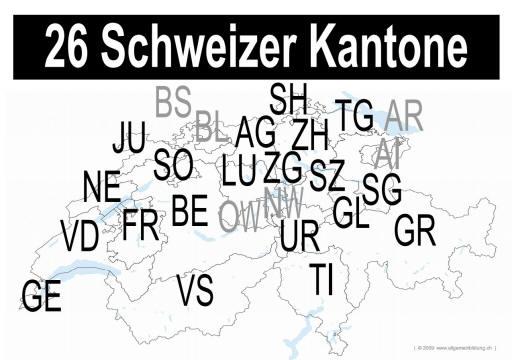 26 schweizer Kantone
